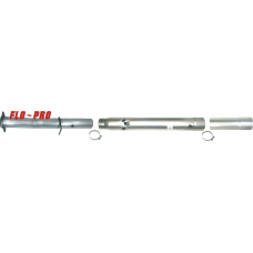 "Flo~Pro SS857NB Stainless 4"" Cat & Delete Pipe No Bungs Fits 2011 Ford F250/F350"
