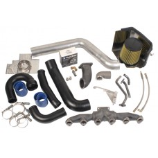 BD Diesel - 1045530 - Twin Turbo Piping Kit for 03-07 Dodge 5.9L Cummins using S300 or S400 with stock turbo on top.