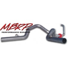 "MBRP S6210AL 4"" Turbo Back (retains stock cat) for 03-07 FORD 6.0L Power Stroke - Cool Duals, (Aluminized)"