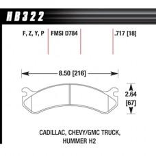 Hawk LTS Brake Pads HB322Y717 Duramax 2500HD 01-09 Front Pads